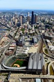 Safeco Field, Centurylink Field, Pioneer Square, Alaskan Way Viaduct, Downtown Seattle, Lake Union, Washington