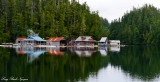 Floating Cabins of  Julia Passage, Barclay Sound, Vancouver Island, Canada