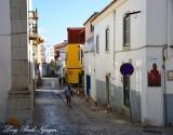 cobblestone street, Cascais, Portugal
