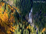 Blanca Lake falls Columbia Peak Cascade Mountains Washington