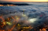 Space Needle, West Seattle, Shroud in Fog, Seattle