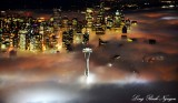 Space Needle, Downtown Seattle, Fog Seattle