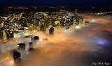 Seattle shrouded in Fog Washington