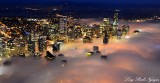 Downtown Seattle Approaching Fog Washington