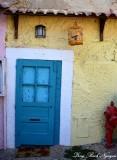 blue door Lisbon Portugal