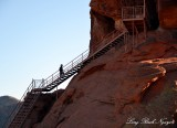 Climbing Atlatl Rock Valley of Fire Nevada