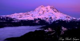 Mount Rainier National Park, Sunset over Cascade Mountains, Washington
