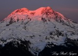 Last of sunset, Mount Rainier National Park, Cascade Mountains, Washington