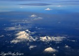 Mt Bachelor, Three Sisters, Mt Washington, Mt Jefferson, Mt Hood, Mt St Helens, Mt Adams, Mt Rainier, Oregon, Washington