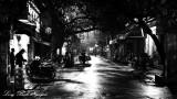 quite street in Hanoi Old Quarter, Hanoi, Vietnam