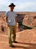 Me at Horseshoe Bend Overlook, Glen Canyon, Arizona