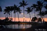 Swimming Pool, Sunset, Fairmont Orchid, Big Island, Hawaii