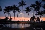 Swimming Pool, Sunset, Fairmont Orchid, Big Island, Hawaii