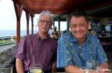 Dave Hein and Me, Sam Choys Restaurant, Kailua-Kona, Hawaii