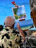 Local artist, Kekaha Kai State Park, Big Island, Hawaii