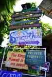 Kalapana Village Signs, Puna Coast, Big Island, Hawaii