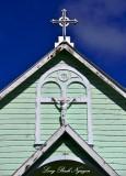 Crosses, Star of the Sea Church, Pahoa, Hawaii