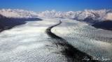 Knik Glacier, Mount Gannett, Mount Goode, Chugach Mountains Range, Alaska