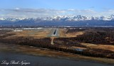 Arrival at Anchorage International Airport, Anchorage, Chugach Mountains, Alaska