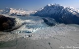 Colony Glacier, Inner Lake George, Mount Muir, Mount Gilbert, Chugach Mountains, Alaska