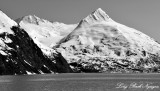 Shakespeare Glacier, Shakespeare Shoulder, Baird Peak, Portage Lake, Alaska