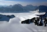 Whiteout Glacier, Eklutna Glacier, Peril Peak, Mount Beelzebub, Chugach Mountains, Alaska