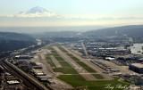 Boeing Field, Runway 13L and 13R, Mount Rainier, Seattle, Washington State