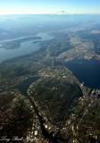 Seattle, Lake Union, Ship Canal, Lake Washington, Elliott Bay, Boeing Field, Mount Rainier, Washington