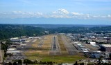 Boeing Field, King County International Airport, Runway 13L and 13R, Boeing Flight Test, Mount Rainier, Seattle
