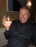 David toasting to Charlie Hogan for cocktail hours