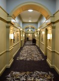 Hallway in hotel Edinburgh Scotland UK