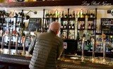 Enjoying his Scotch Edinburgh Scotland UK