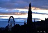 Scott Monument Ferries Wheel Edinburgh UK