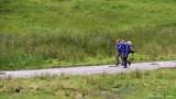 Hikers on trail Scottish Highland UK
