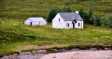 White house Glencoe, Scottish Highland, UK