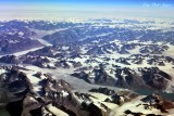 Eastern Greenland from 40000 feet