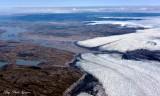 Receding glaciers on Greenland