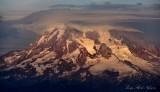 Evening sun on Mount Rainier National Park