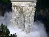 Falling Water of Snoqualmie Falls Washington