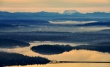 Mercer Island, Interstate 90 Floating Bridge, Seward Park, Lake Washington, Mount St Helens, Washington