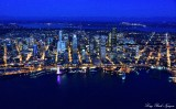 Seattle and Waterfront at Blue Hours Washington