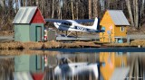 Spring Time on Lake Hood Seaplane Base Anchorage Alaska