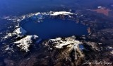 Crater Lake from 43000 feet Oregon