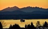 Sunset from Admiral Junction West Seattle