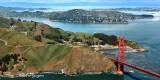 Golden Gate Bridge, Fort Baker, Belvedere Island, Tiburon, California