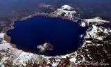 Crater Lake Cascade Mountains Oregon
