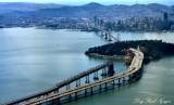 Bay Bridge, Twin Peaks, Yerba Buena Island, San Francisco, California