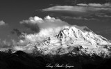 Strong Wind over Mount Rainier National Park Washington