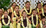 Hawaiian Hula Dancers, Hilo Hawaiian Hotel, Merrie Monarch 2015, Hilo