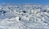 Ragely Ice Field, Yahtse Glacier, Wrangell-St Elias National Park, Alaska